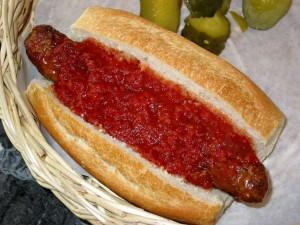 Sausage on a bun