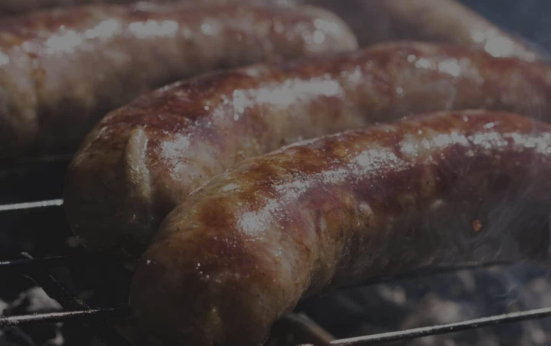 grilled sausage slider banner